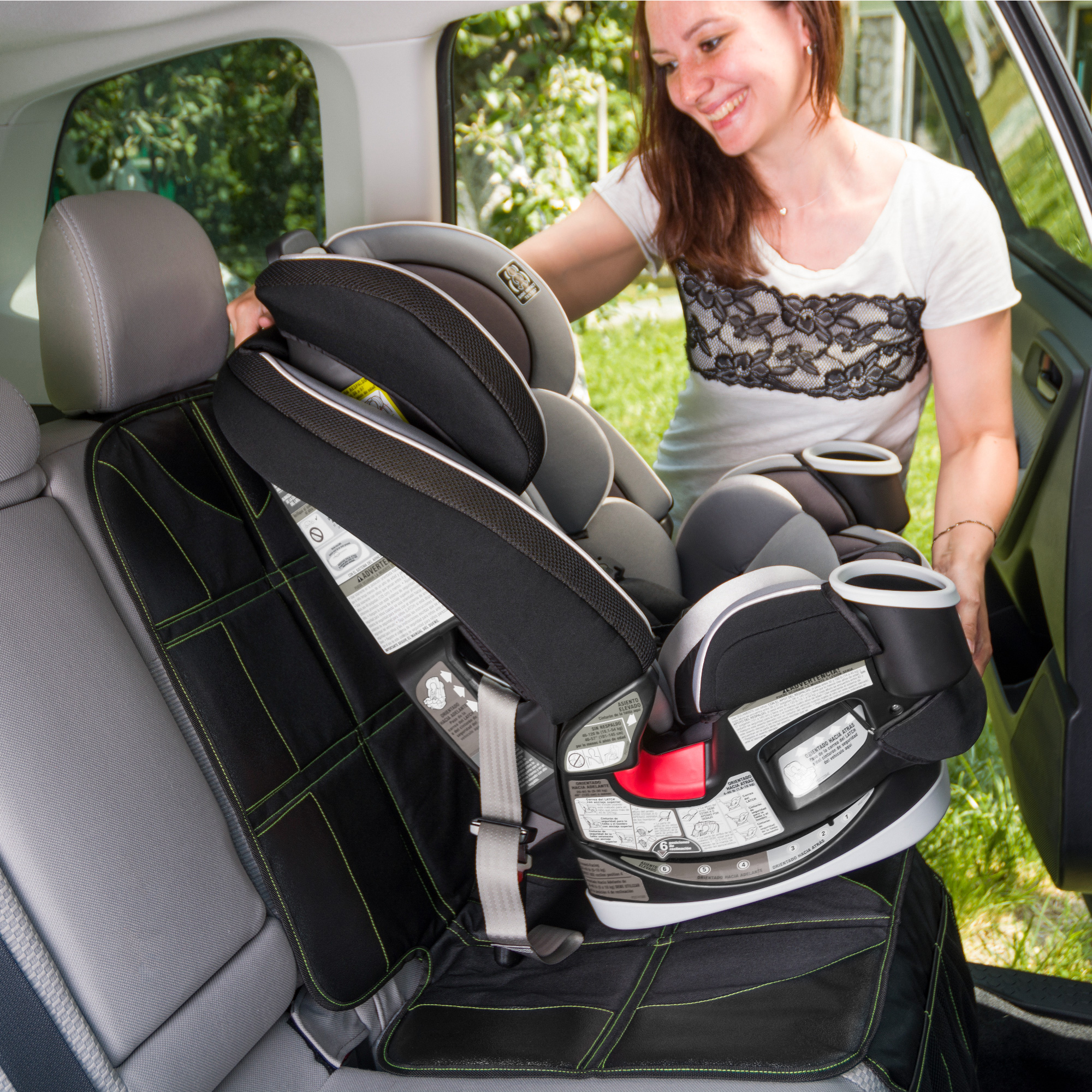 Car Seat Protector  and Organizer Set