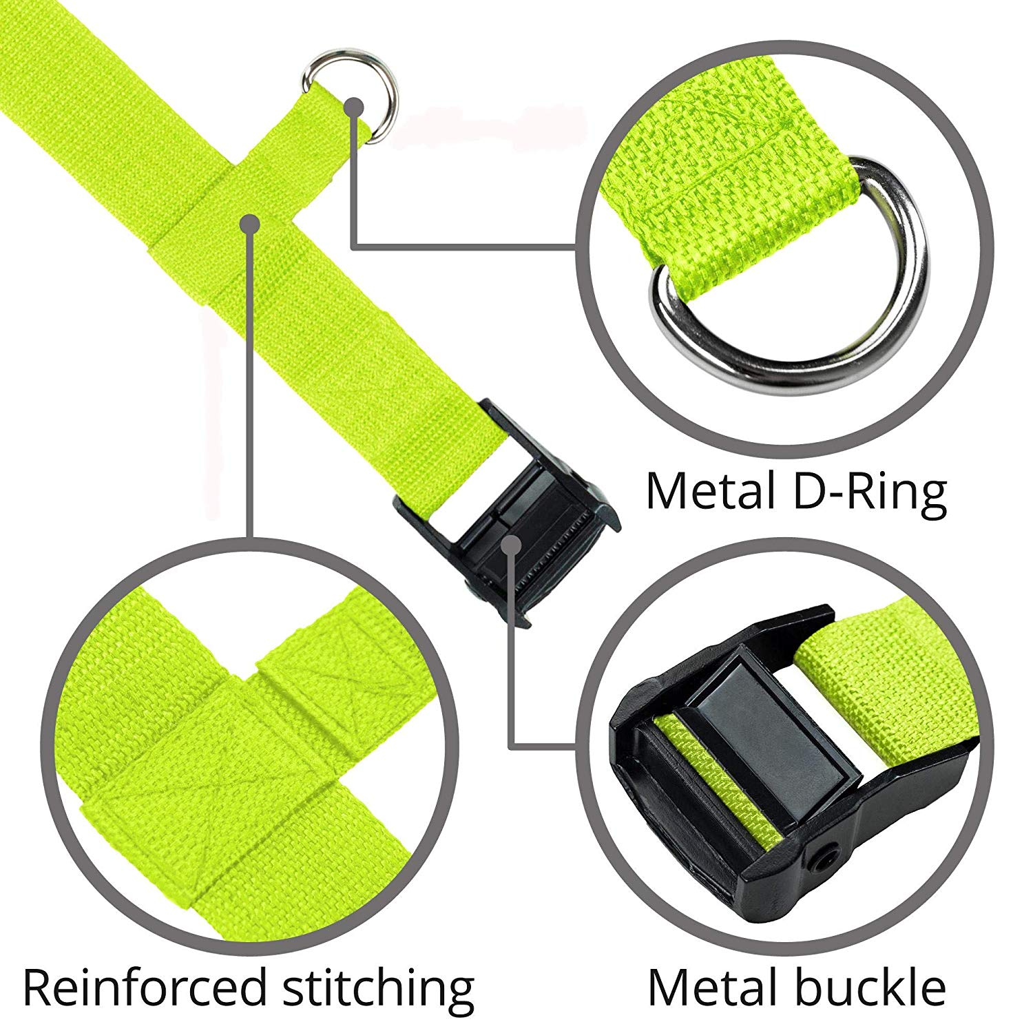 Car Seat Travel Belt Green